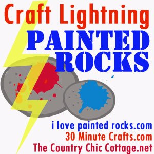 Craft Lightning Painted Rocks Blog Hop Creatively Beth