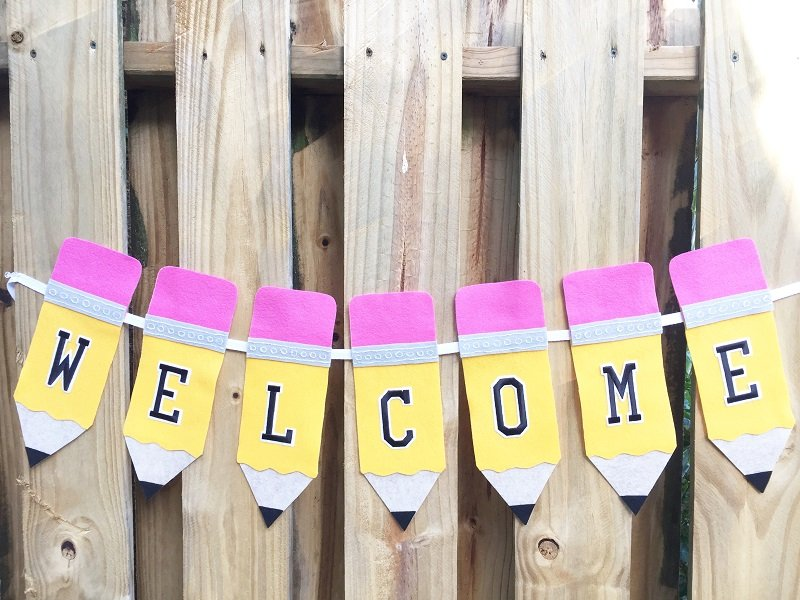 Make a Back to School Pencil Banner with Creatively Beth