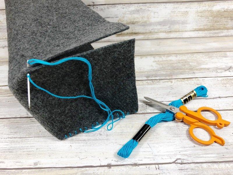 Sewing Back to School Felt Storage Baskets