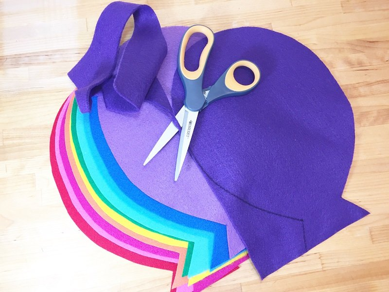 Create a colorful Happy Birthday Balloon Banner with Kunin Felt with Creatively Beth
