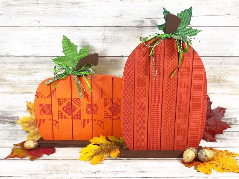 Creatively Beth Faux Quilted Wooden Pumpkins with Ann Butler Designs