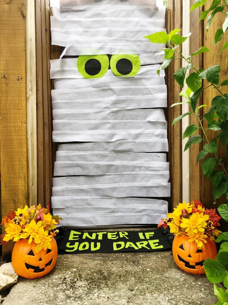Creatively Beth DIY Halloween Mummy Door created with Oly Fun by Fairfield World