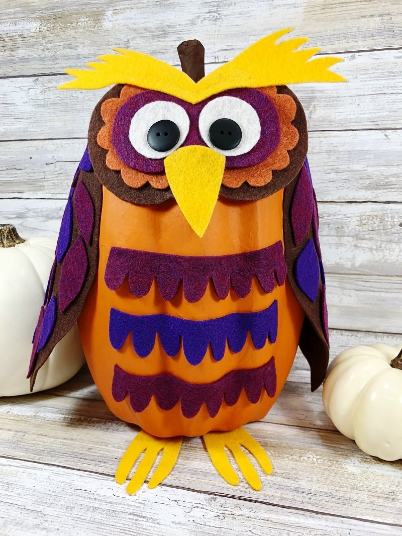 Creatively Beth Halloween Owl Pumpkin a No-Carve DIY