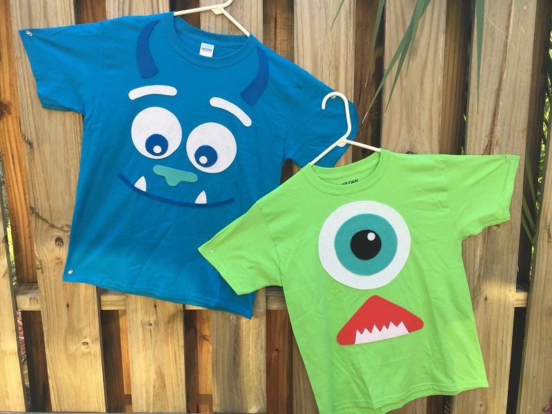 Quick and Easy Monsters Inc Halloween Costumes by Creatively Beth