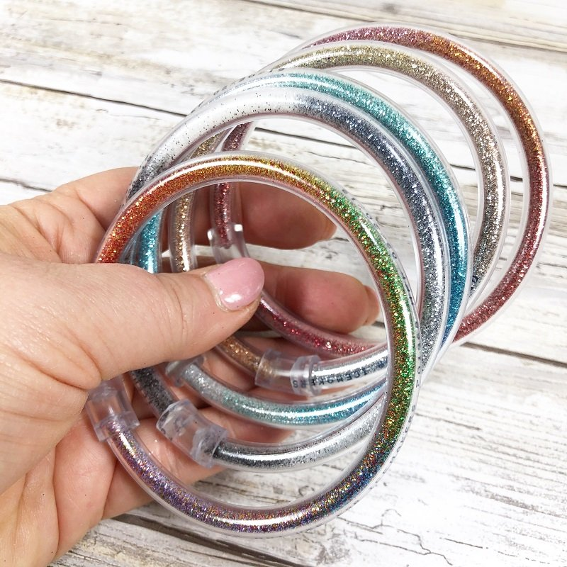 Totally Tubular Glitter Bracelets in 15 minutes Creatively Beth #creativelybeth #craftlightning #glitter #crafts #jewelry #15minutecrafts