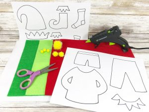 FREE Printable Patterns for Elf Clothing #creativelybeth #createwithkunin #christmascrafts #feltgarland