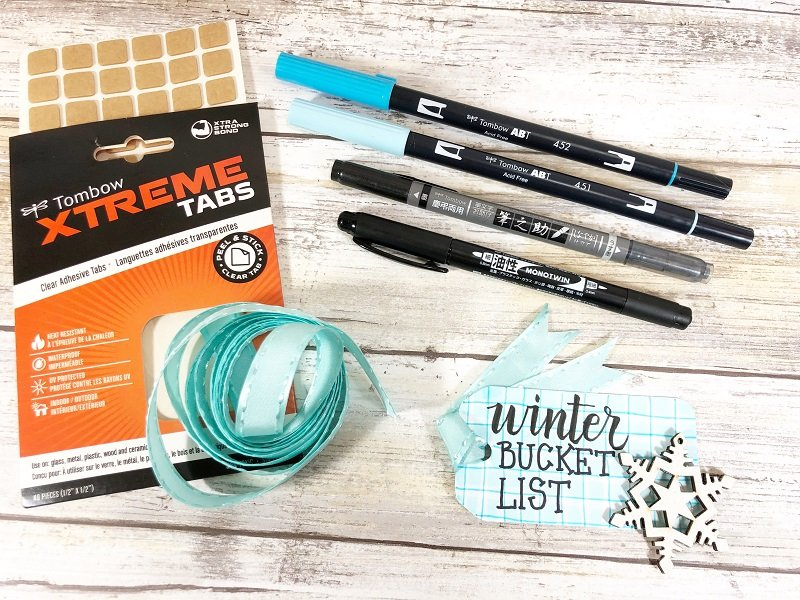 Create a tag Craft Stick Winter Bucket List Creatively Beth #creativelybeth #wintercrafts #dollartreecrafts #kidscrafts