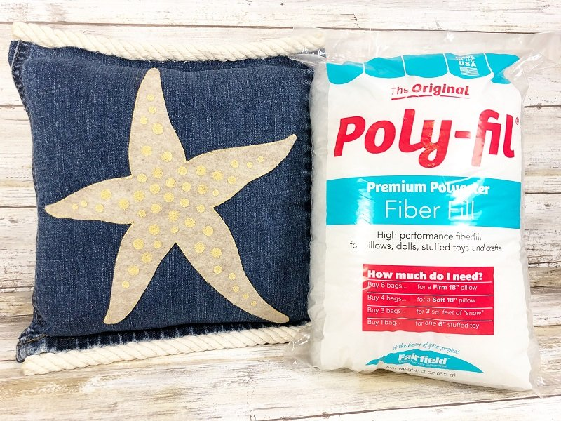 Starfish and Sand Dollar Denim Pillows Creatively Beth