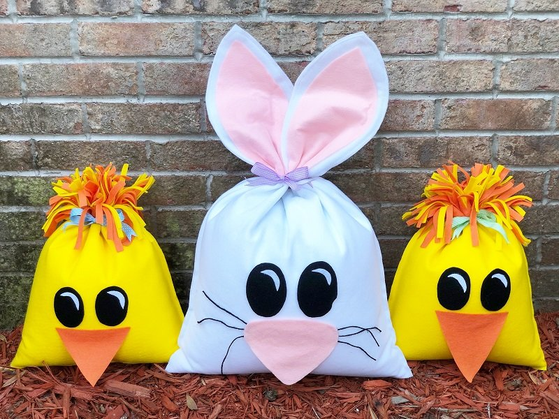 How to Create a Playful Bean Bag Bunny and Chick Creatively Beth #creativelybeth #fairfieldworld #eastercrafts #bunny #chick