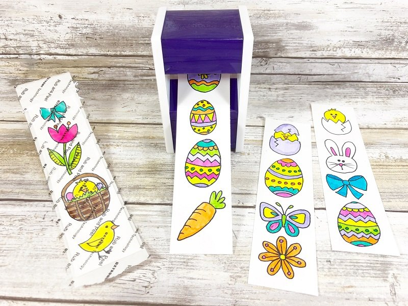 Run through the Xyron portable Sticker Maker Xyron Creatively Beth #creativelybeth #doodles #freedownload #printable #eastercrafts #xyron