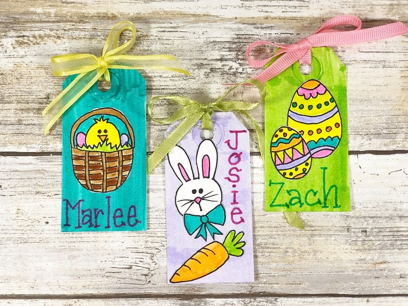 How to make Stickers from hand-drawn Doodles with Xyron Creatively Beth #creativelybeth #doodles #freedownload #printable #eastercrafts #xyron
