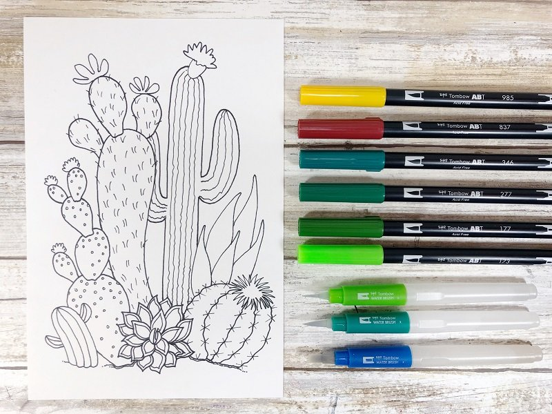 Download a Free Cactus Printable Creatively Beth #creativelybeth #watercolor #freeprintable #freedownload #cactus #succulents