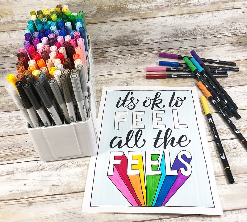 Color a Rainbow of Feelings FREE Printable by Creatively Beth DOWNLOAD IT NOW! #creativelybeth #freeprintable #freedownload #freecoloringpage #deflecto #markerstorage