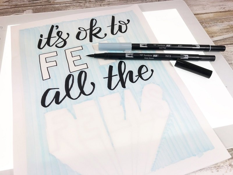Color directly on the Cricut BrightPad so your finished piece has no pencil lines Creatively Beth #creativelybeth #freeprintable #freedownload #freecoloringpage #deflecto #markerstorage
