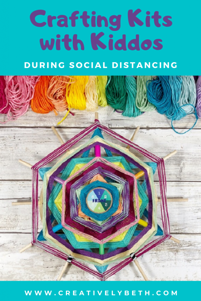 Crafting with Kids while Social Distancing Creatively Beth #creativelybeth #annwilliams #craftkits #craftingwithkids