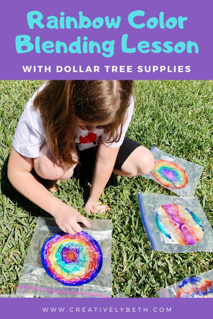 Watercolor Coffee Filter Rainbow Craft for Kids Creatively Beth #creativelybeth #craftsforkids #kidscrafts #rainbow #dollartreecrafts