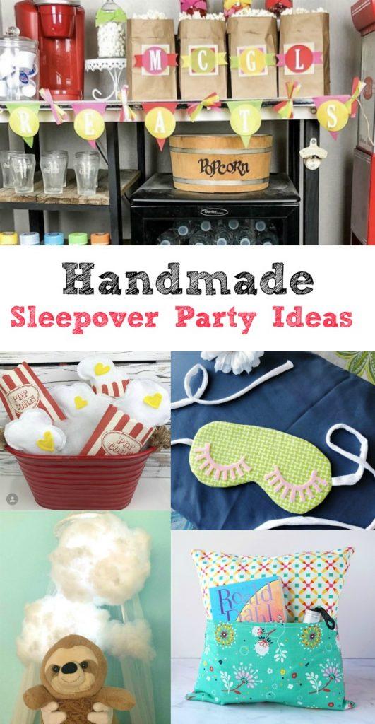Handmade Sleepover Party Ideas Creatively Beth #creativelybeth #sleepover #party #ideas #sleepmask