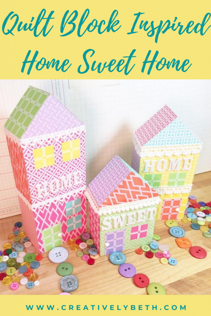Quilt Block Inspired Home Sweet Home Decor with Ann Butler Designs Creatively Beth #creativelybeth #quiltblock #homedecor #stamped