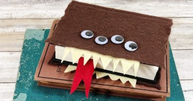Harry Potter Monster Book of Monsters DIY Tutorial Creatively Beth #creativelybeth #harrypottercrafts #crafts #kidscrafts #feltcrafts
