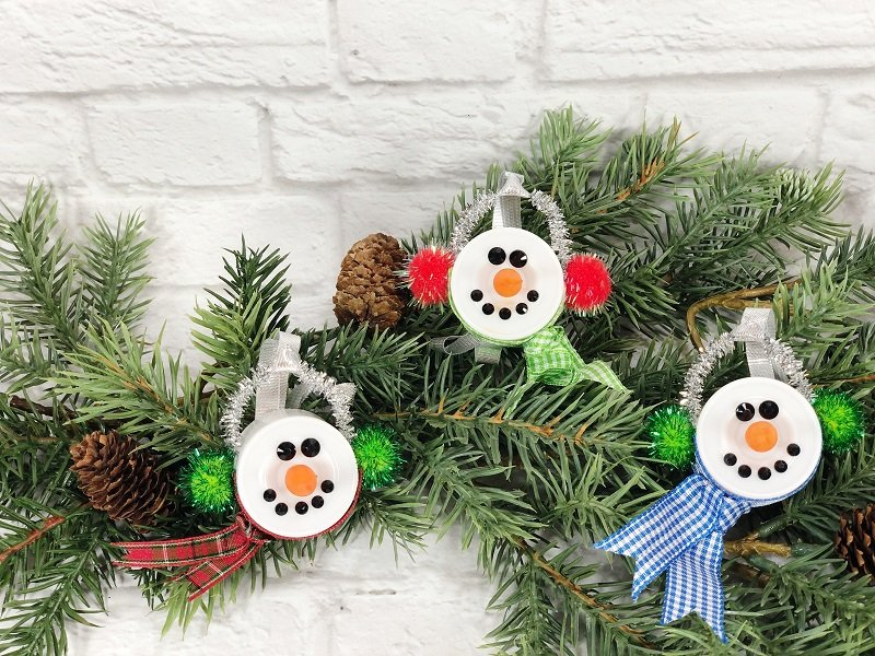 Dollar Tree Snowman Votive Creatively Beth #creativelybeth #dollartreecrafts #christmas #ornaments