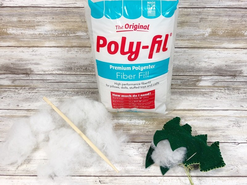 Stuff trees with Poly-Fil from Fairfield World Creatively Beth #creativelybeth #polyfil #fairfieldworld #christmasinjuly #manteldecor