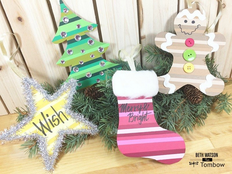 Scrap Paper Christmas Ornaments Creatively Beth #creativelybeth #christmas #ornaments #recycled