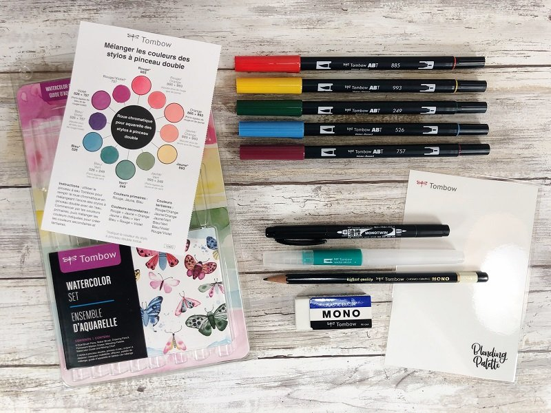 Tombow Dual Brush Pen Watercolor Set Creatively Beth #creativelybeth #freeprintable #handdrawn #watercolor #tombowdualbrushpens