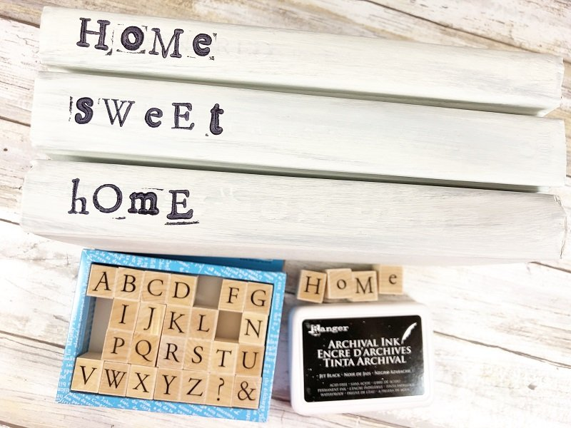 My message is HOME SWEET HOME but create a message that speaks to you Creatively Beth #creativelybeth #dollartreecraft #homedecor #bookstack #diy