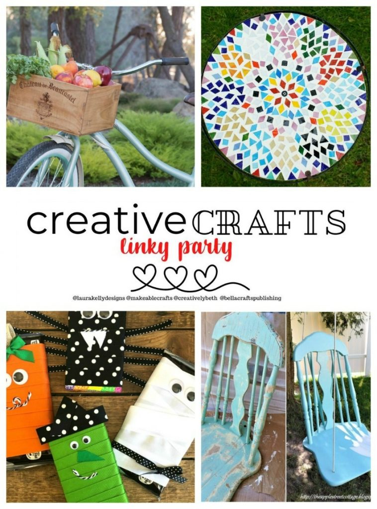 Creative Crafts Linky Party Features from week 4 Creatively Beth Bella Crafts Publishing Laura Kelly Designs Makeable Crafts #creativelybeth #creativecrafts #linkyparty