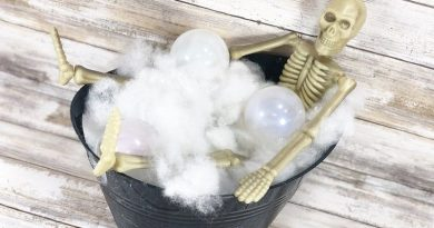 How to DIY Skeleton Bubble Bath with Poly-Fil Creatively Beth #creativelybeth #polyfil #ffw80 #dollartreecrafts #halloweencrafts