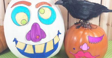 How to DIY the Easiest No-Carve Halloween Pumpkins with Creatively Beth #creativelybeth #monsterpumpkins #nocarvepumpkins #freeprintable #kidscraft #halloweencraft