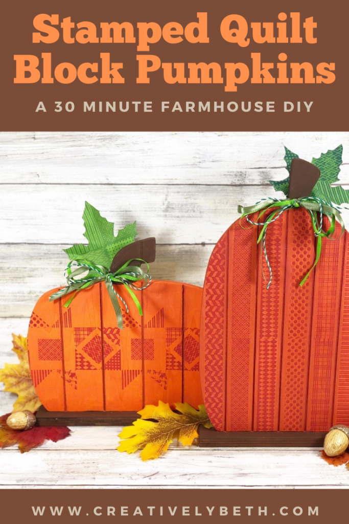 Faux Quilted Pallet Pumpkins with Ann Butler Designs