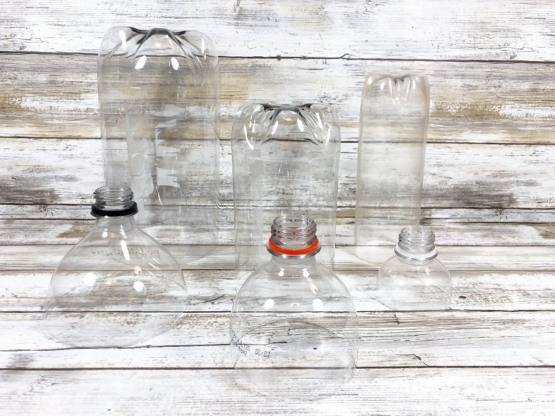 Make sure that the bottles are different shapes and sizes Creatively Beth #creativelybeth #creativecrafts #recycledcrafts #halloweencrafts