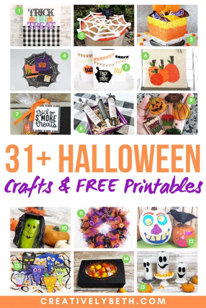 THE 31 BEST HALLOWEEN CRAFTS AND FREE PRINTABLES Creatively Beth #creativelybeth #thebest #halloween #crafts #freeprintables
