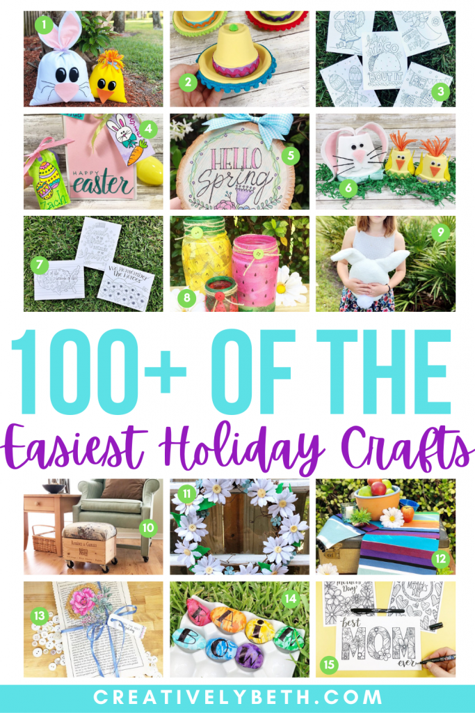 100 of the Easiest Holiday Crafts to Inspire Creativity All Year Creatively Beth #creativelybeth #theeasiestholidaycrafts #100holidaycrafts #craftsallyear #craftyearround