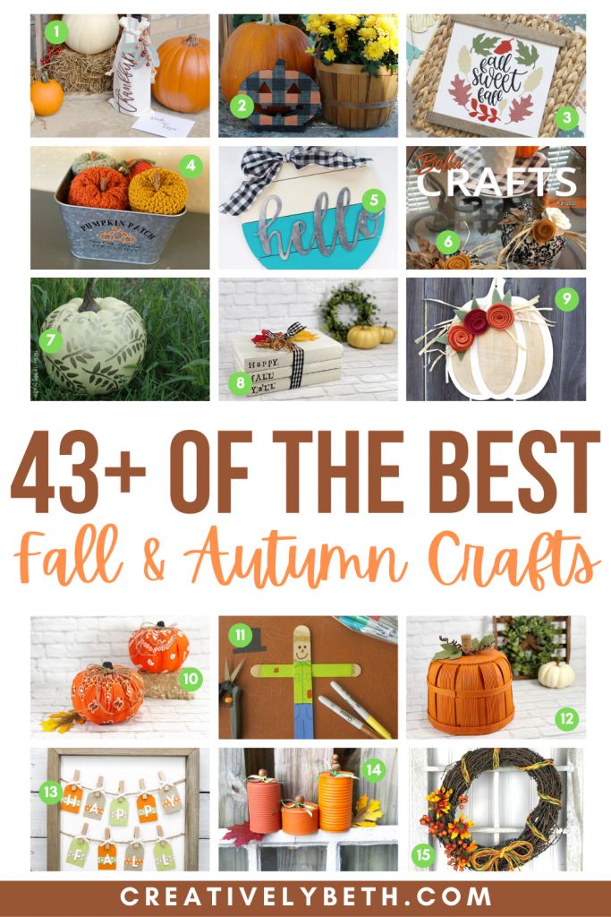 The BEST Fall Crafts Creatively Beth #creativelybeth #thebestfallcrafts #fallcrafts #autumncrafts #bestcreativecrafts