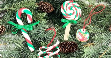 Easy Polymer Clay Candy Ornaments for Christmas Creatively Beth #creativelybeth #polymerclay #christmas #ornaments