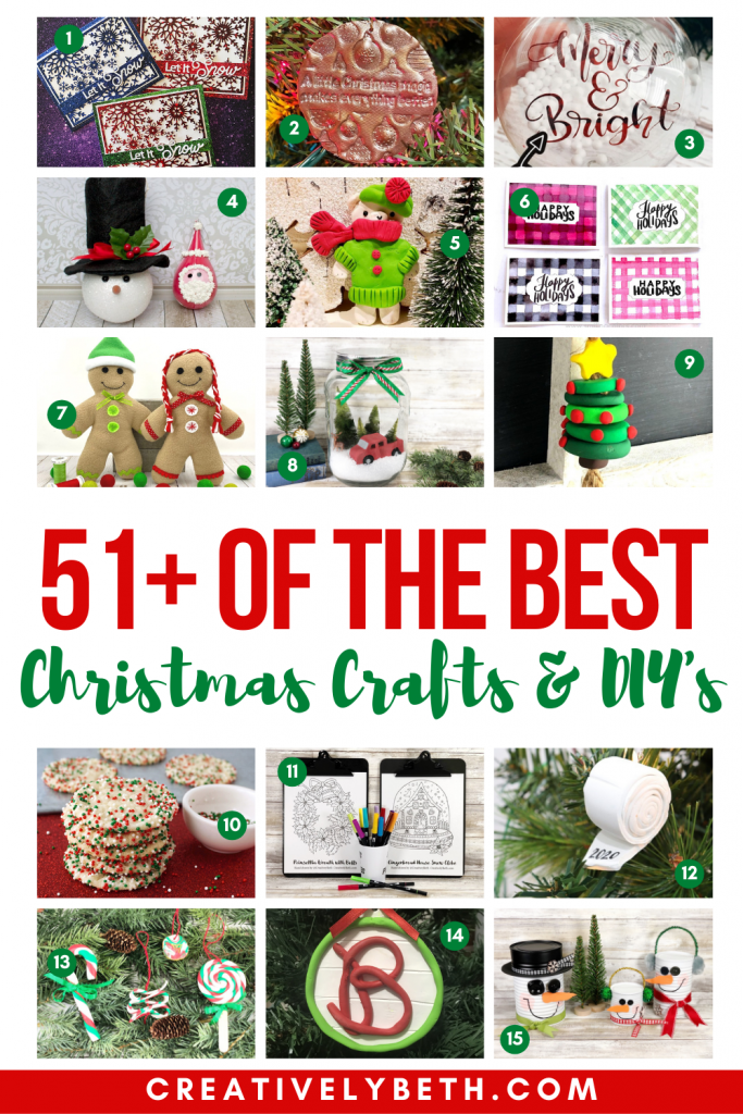 51+ of the BEST Christmas Crafts and FREE Printables Creatively Beth #creativelybeth #thebestchristmascrafts #freeprintableschristmas