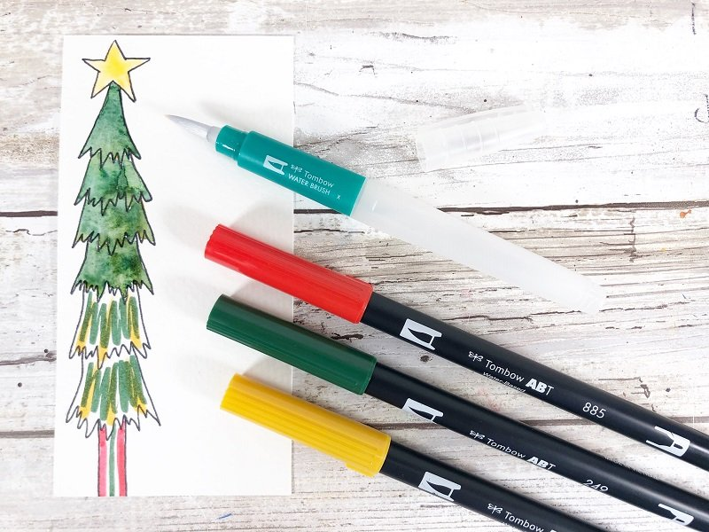 Mix and match colors to create depth Creatively Beth #creativelybeth #freeprintable #holiday #tags #watercolor
