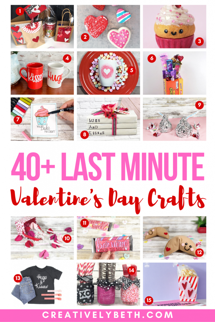 40+ Last Minute Valentine Crafts, Ideas and Free Printable Files Creatively Beth #creativelybeth #valentinecrafts #lastminutevalentine #freeprintable