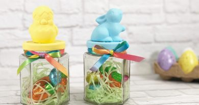 5 Minute Easter Candy Jars with Dollar Tree Supplies Creatively Beth #creativelybeth #dollartreecrafts #eastercrafts #eastercandy