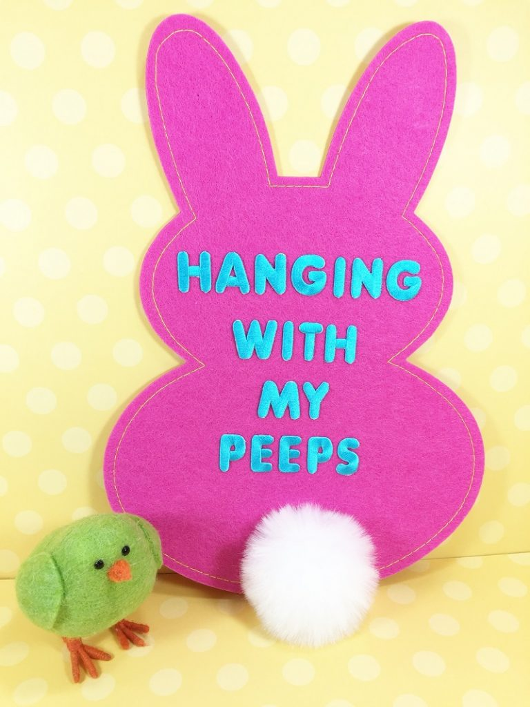 5 Minute Felt Easter Bunny with a Funny Message Creatively Beth #creativelybeth #5minutecrafts #eastercrafts #feltbunny #peeps #kidscrafts