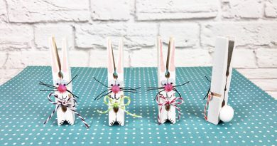 Dollar Tree Clothespin Bunnies Creatively Beth #creativelybeth #dollatreecrafts #eastercrafts #bunny #bunnies #clothespincrafts