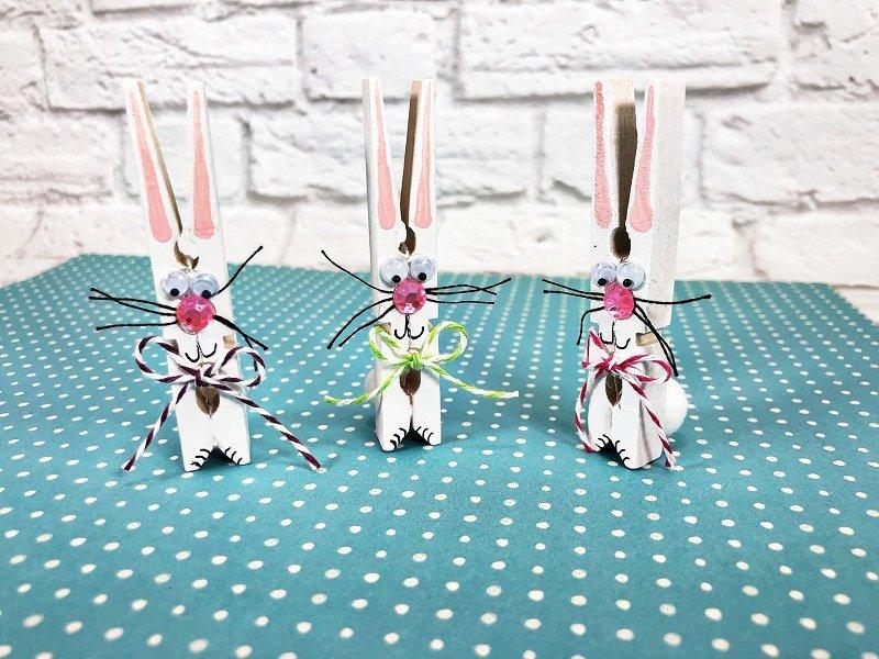 Dollar Tree Clothespin Bunnies Creatively Beth #creativelybeth #dollatreecrafts #eastercrafts #bunny #bunnies #clothespincrafts