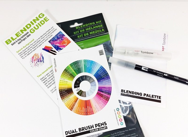 Using the Tombow Blending Kit to make watercolor backgrounds Creatively Beth #creativelybeth #tombowdualbrushpens #watercolor #marbledpaper #watercolorbackgrounds