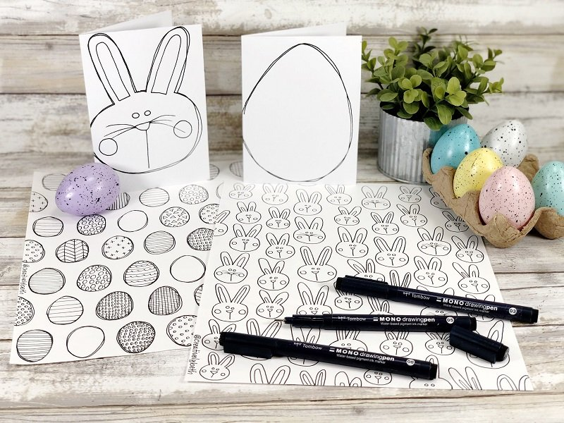 Free Easter Coloring Pages to Print and Color by Creatively Beth #creativelybeth #freeprintable #easter #coloringpages #coloringcards
