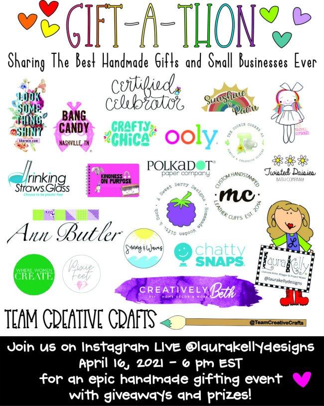 Team Creative Crafts Gift-A-Thon #teamcreativecrafts #giftathon #creativelybeth #laurakellydesigns #bellacraftspublishing