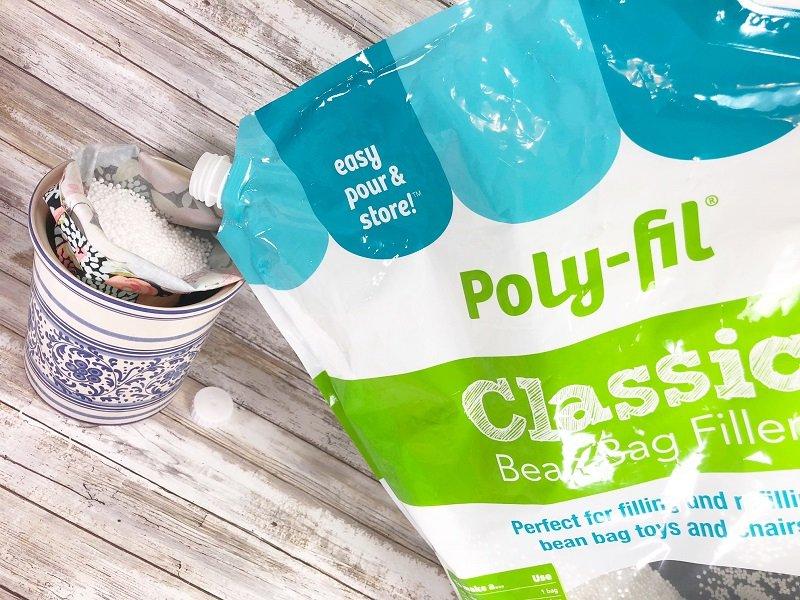 Easy Bean Bag Tablet Holder with Fairfield World by Creatively Beth #creativelybeth #madewithFFW #fairfieldworld #ployfil #beanbag
