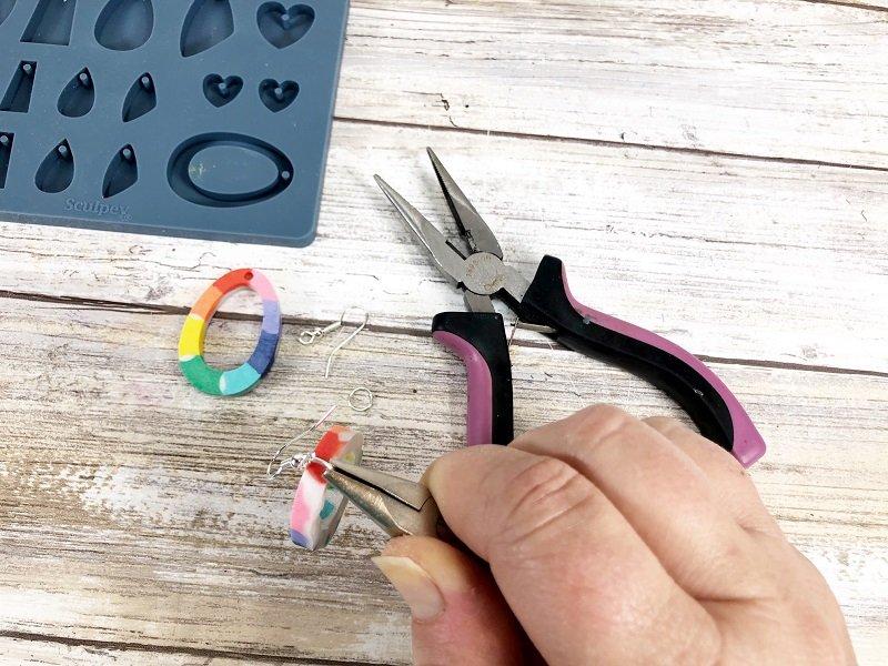 Easy Rainbow Earrings with Liquid Sculpey by Creatively Beth #creativelybeth #rainbow #earrings #diy #liquidsculpey #sculpey