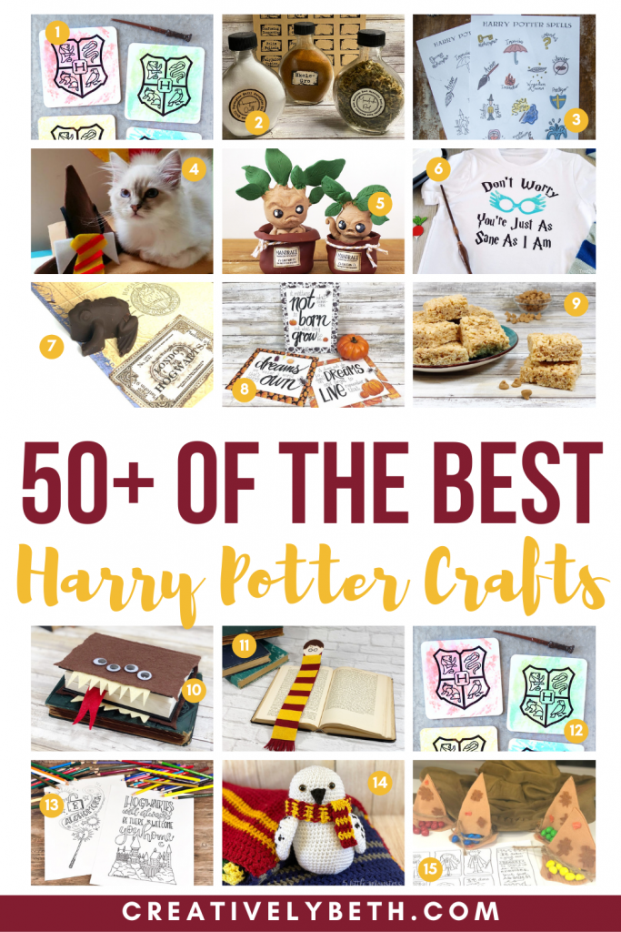 50+ Best Harry Potter Crafts and FREE Printables Creatively Beth #creativelybeth #harrypotter #bestharrypottercrafts #teamcreativecrafts